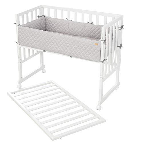 roba-kids 8961WE-8V230-3en1, blanco, estilo roba, para todas las alturas de cama de los padres, incluyendo el colchón, el nido y la barrera, unisex