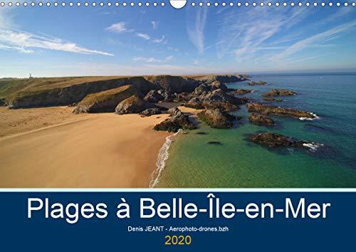 Plages à Belle-île-en-mer (Calendrier mural 2020 DIN A3 horizontal): Vues aériennes en drone de plages de Belle-île-en-mer (Calendrier mensuel, 14 Pages )