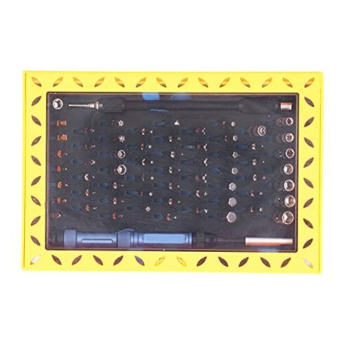 EVTSCAN 63 en 1 Juego de destornilladores de precisión Kit de brocas de metal Herramienta de reparación electrónica para computadora de teléfono