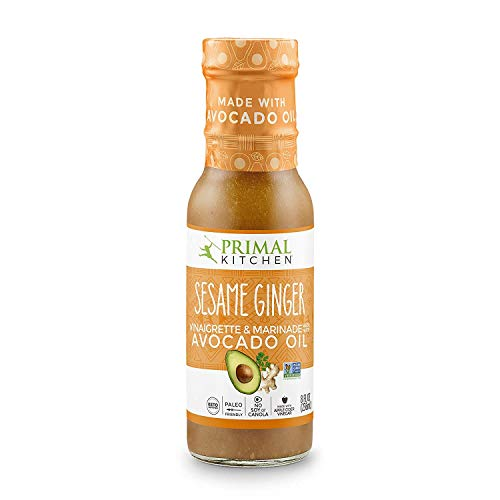 Primal Kitchen - Avocado Oil-Based Dressing and Marinade, Sesame Ginger Vinaigrette, Pack of 1, Whole30 and Paleo Approved