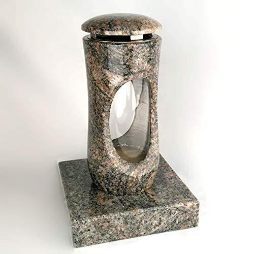 Designgrab Design Petite lampe funéraire avec socle en granit Himalaya
