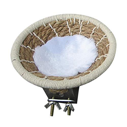 CALIDAKA Rope Bird Breeding Nest Bed for Budgie Parakeet Cockatiel, Rope Weave Bird Nest Cotton Rope...