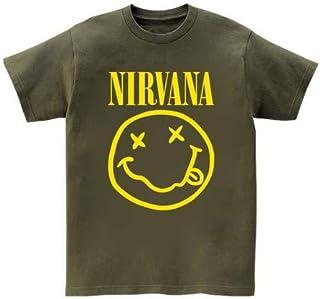 [10色]BANDLINE(バンドライン) NIRVANA ニルヴァーナ Kurt Cobain カート コバーン バンド ロック パンク メタル 半袖Tシャツ