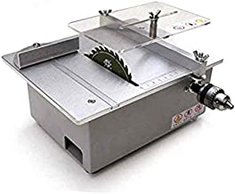 BENREN Sierra de Corte Modelo DIY, Sierra Circular de Mesa 110-240V, Máquina de Corte Modelo DIY para Carpintería, Amoladora Pulidora Eléctrica