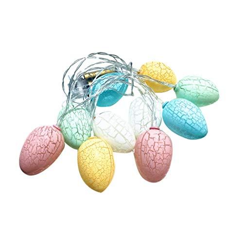 PRETYZOOM LED Osterei Lichter Mini Ei Lampe Ornament Hängen Anhänger für Ostern Urlaub Party Bevorzugung Tasche Füller Wohnkultur 3M (Ohne Batterie)
