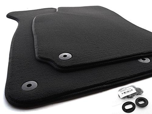 Fußmatten passend für Passat 3B 3BG B5 Set Velours Automatten Matten Set 2-teilig inkl. ovale Befestigung