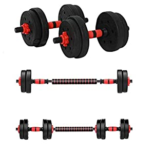 SAQIMA 22LB Adjustable Dumbbell Pair, Dumbbell Combination Environmental Dumbbell Barbell for Strength Training, Weight Loss, Workout Bench, Gym Equipment, and Home Heavy Dumbbells