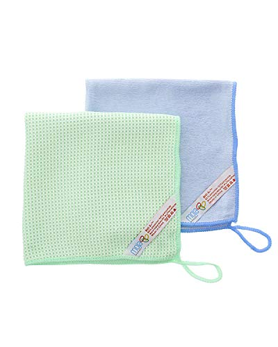 MojaWorks Microfiber Glass Cleaning Cloths - Cleans Glass Windows Mirrors Best Absorbent Glass Cloth & Finish Cloth -...