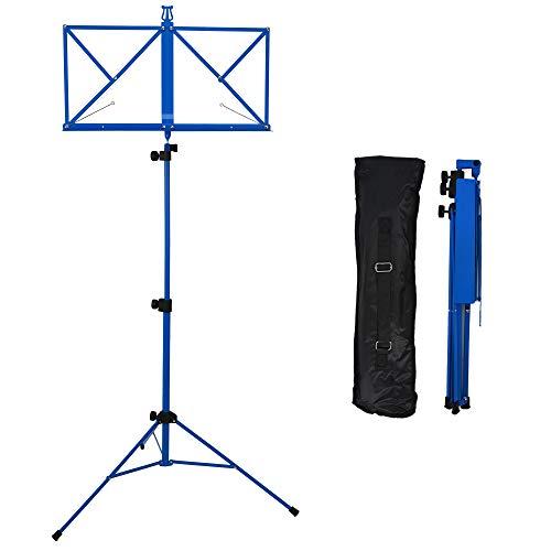 Rocket MS03BL - Atril de partituras plegable, color azul