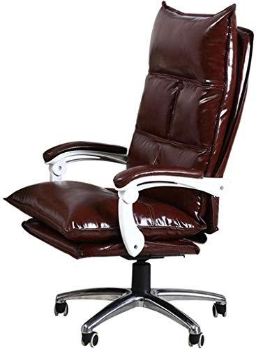 MGE Premium bureaustoel Comfort Executive Swivel Computer stoel, High-Back Faux lederen bekleed, Ergonomisch Reclining ontwerp, verstelbare hoogte, bruin
