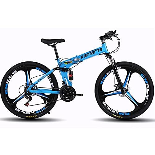 WGYDREAM Mountainbike Bici Bicicletta MTB Mountain Bike for Adulti Fold 26 Pollici 21/24/27 -Speed Ammortizzante Doppio Freno a Disco Doppio Student Suspension Bicicletta MTB Mountain Bike