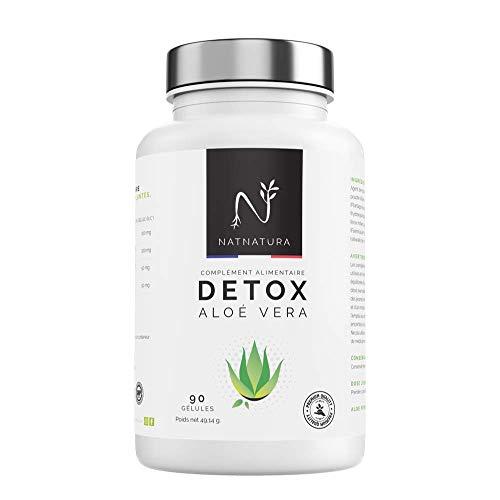 Cure DETOX con aloe vera + Hinojo. Désintoxication du côlon et foie Aole detox hautement concentrees. Élimination naturelle des toxines. 90 Gélules végétales.