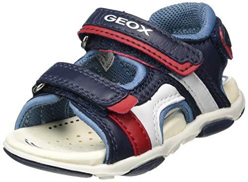 Geox Baby Jungen B AGASIM Boy C Sandalen, Blau (Navy/Dk Sky C4250), 24 EU