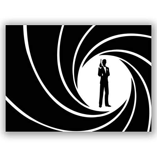 Box Prints James Bond 007 Retro-Filmplakat gerahmt Leinwand Wandkunstdruck