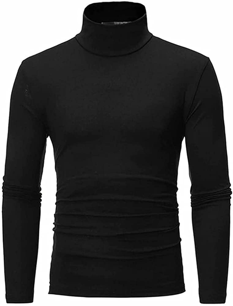 NP Men's Autumn Winter Colors Casual Long Sleeve Knitted Stretch Slim Fit Sweater Black