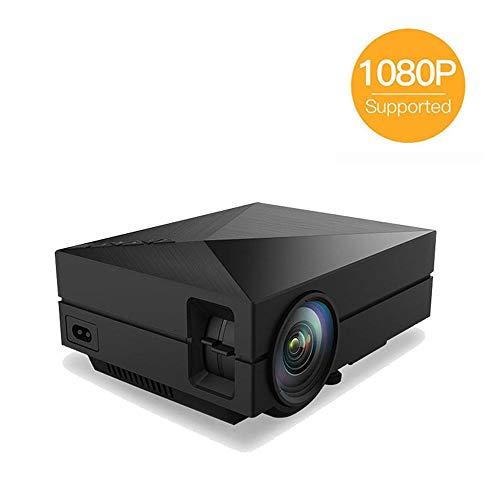 DAETNG Mini-proyector de Video portátil LED, proyector de Cine en casa para Juegos Multimedia, Compatible con corrección Trapezoidal, TV Stick, Full HD 1080P HDMI, VGA, USB, AV, computadora portátil