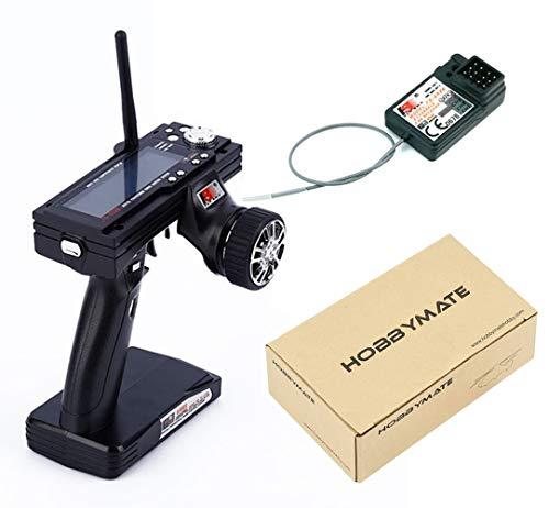 Flysky RC FS-GT3B 2.4Ghz 3 Channel Radio Transmitter RemoteController & Fly Sky GR3E Receiver for Rc Car, Rc Truck, Rc Boat - HOBBYMATE