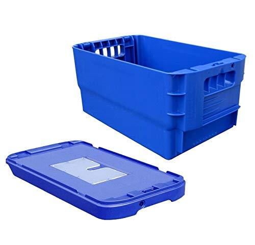 Postkiste, Kunststoffbehälter, Stapelbox inkl. Deckel, stapelbar, Höhe 21 cm, NEUWARE! (blau)