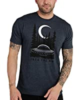 INTO THE AM Extraterrestrial Men's Graphic T-Shirt (Navy, Large)