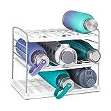 YouCopia UpSpace Water Bottle Organizer, 3 Shelf, White