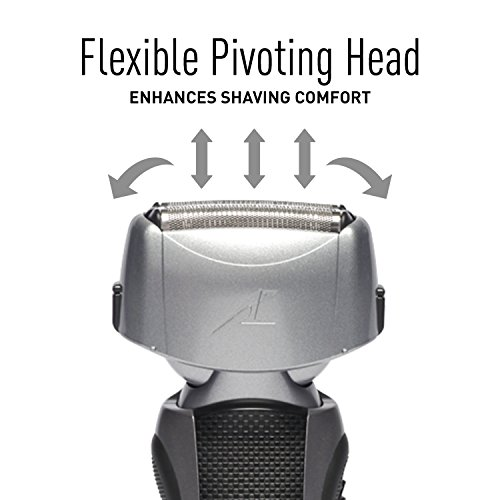 Panasonic ES-LT41-K Arc3 Wet Dry Electric Razor, Men's 3-Blade Cordless with Flexible Pivoting Head, Wet/Dry