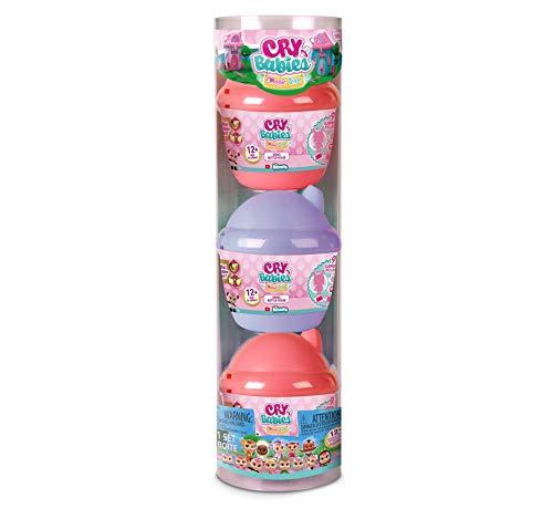 IMC Toys - Cry Babies Magic Tears Bambola in Capsula, Multicolore, Confezione di 3 unità