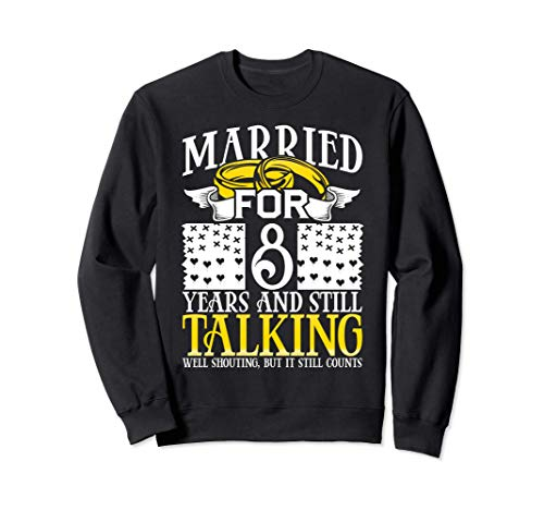 8th Wedding Anniversary Gifts for Wife Her 8th Marriage Gift Sudadera