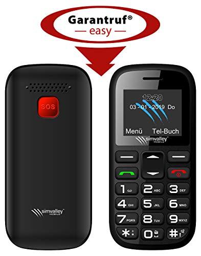 simvalley MOBILE Großtastenhandy: Dual-SIM-Komfort-Handy mit Garantruf Easy, Bluetooth und Taschenlampe (Tasten-Handy ohne Vertrag)