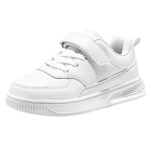 Cuteelf Kinder Sportschuhe Jungen und Mädchen atmungsaktiv Klassische Sportschuhe Schuhe Mode rutschfeste Freizeitschuhe kleine weiße Schuhe Schuhe Bequeme Wilde Mode