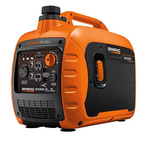 Generac G0071540 GP3300i Portable Inverter Generator, Orange, Black
