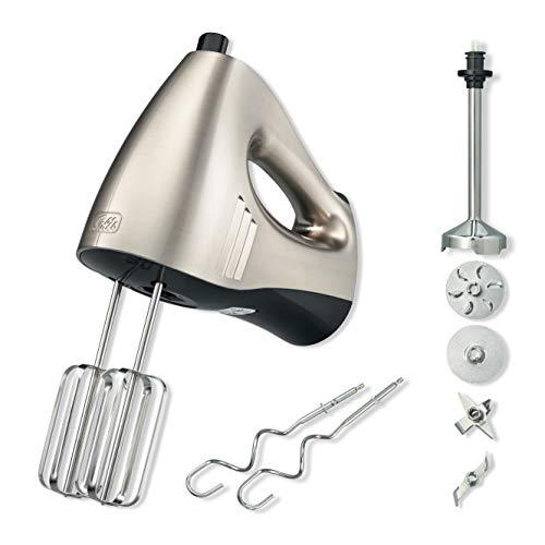 Solis Hand & Stick Mixer 8371 - Handmixer und Stabmixer - 16 Geschwindigkeitsstufen - Inkl. Schneebesen, Knethaken, Mixstab mit 4 Aufsätzen, Mixbecher und Aufbewahrungsbox