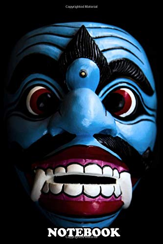 Notebook: Bali Traditional Wooden Mask , Journal for Writing, College Ruled Size 6' x 9', 110 Pages