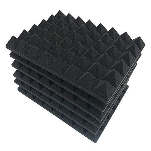 Breezeu Espuma AcúStica de 6 Piezas para ProteccióN de Aislamiento de MicróFono 11,8X15,75X2 Pulgadas Panel de Espuma Insonorizado Filtro de Ruido de Aislamiento