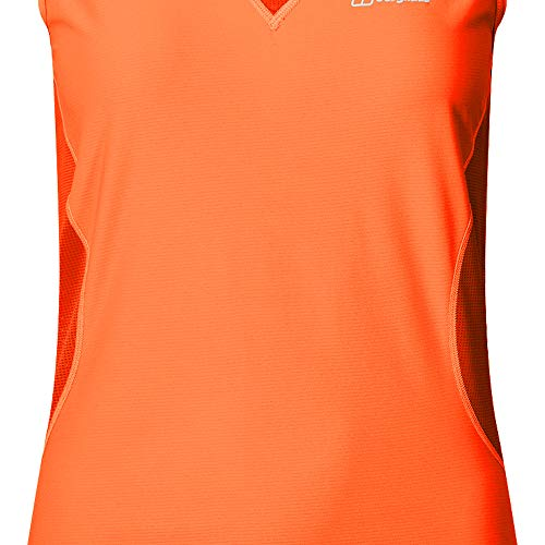Berghaus Super Tech Tee Vest Women orange/poinciana UK 12 = EU 38