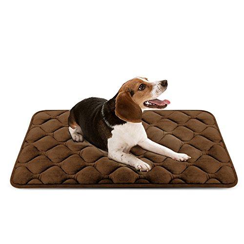 Weiche Hundebett Luxuriöse Hundedecken Waschbar Orthopädisches Hundekissen rutschfeste Hundematte Braun Mittelgroße von HeroDog