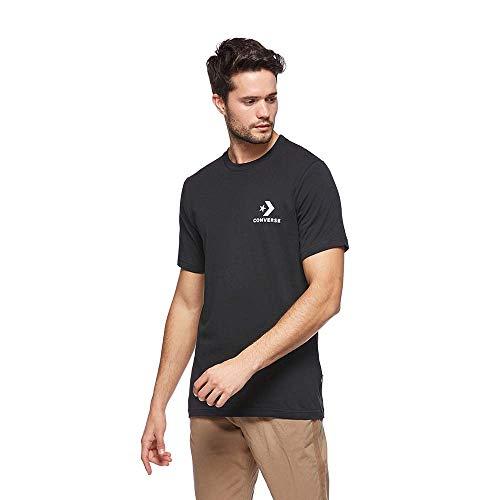 Converse Left Chest Star Chevron Tee BLK Herren-T-Shirt, Schwarz S schwarz