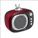 Xyxiaolun Kabellose Lautsprecher mit Bluetooth, TV-Computer Bluetooth 5.0 Integriertes Mikrofon Multifunktions-Mini-Lautsprecher mit Radiowecker,Red -