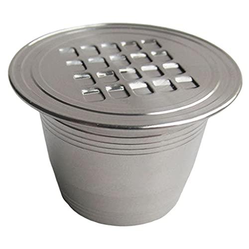 gazechimp Adaptador de cápsula de café expreso recargable, convertidor de filtros de vainas para cafetera, suministros de café para el hogar a prueba de fugas