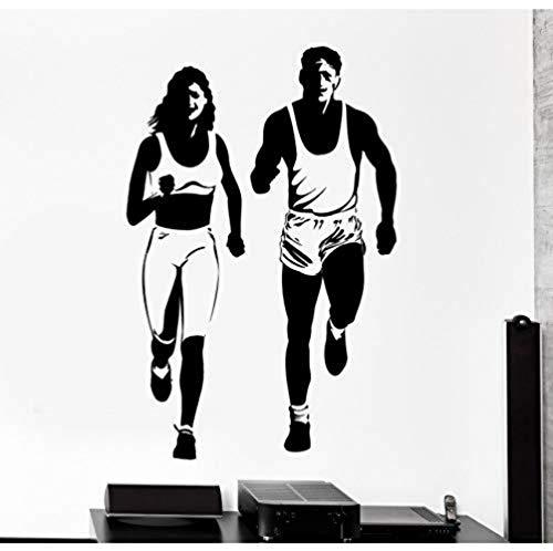 XCJX gym en cours d'exécution créatif gravure sticker mural décoration