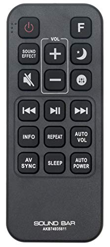 ALLIMITY AKB74935611 Mando a Distancia reemplazado por LG Soundbar SJ6 SJ8 SJ9