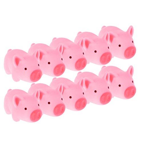 TOYMYTOY Rubber Schwein Baby Badespielzeug für Kinder 10pcs