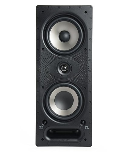 Polk Audio 265-RT 3-Way in-Wall Speaker -The Vanishing Series, Easily Fits in Ceiling, Wall, Audio - Use in Front, Rear or Surround sound with Power Port and Paintable Grille (Renewed)