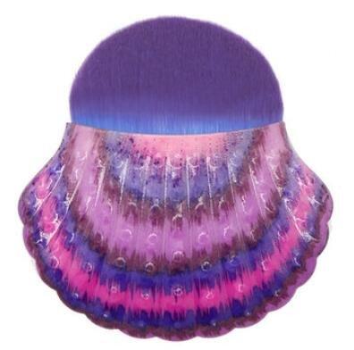 Bluelover Shell en Forme De Maquillage Pinceau Cosmétiques Contour De La Fondation Applicateur Face Blush Poudre - 01