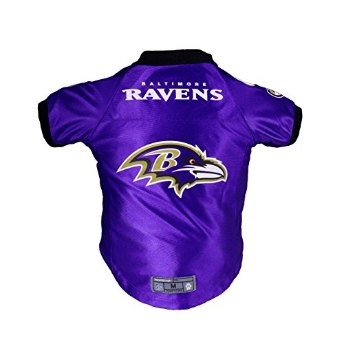 Littlearth Pets NFL Baltimore Ravens Premium Pet Jersey - Sports Jersey Designed for Dogs and Cats, Team Color, Medium