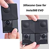 BECEMURU Silicone Case for Insta360 EVO,Two Types Cover Case Shockproof Scratch Proof Action Camera Accessories Skins,Soft-Lightweight-Reliable to Protect Insta360 EVO/3D VR Camera