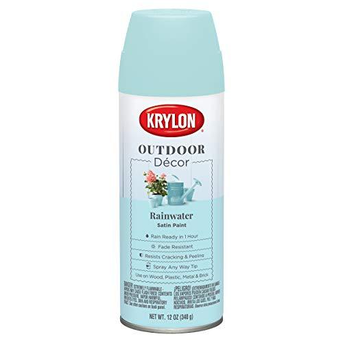 Krylon K09335000 Outdoor Décor Spray Paint, Rainwater