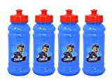 4-Pack Paw Patrol Chase 16oz Pull-Top Squirt Water Bottles, Blue/Red, BPA-Free