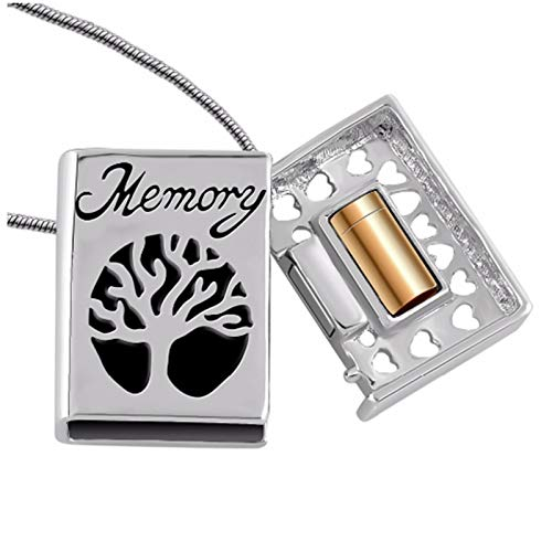 Ashes Necklace Cremation Jewelry Tree Of Life Memorial Keepsake Urn Pendant Ashes Necklace