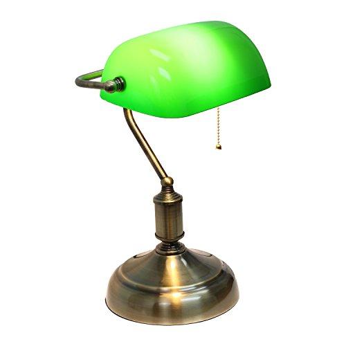 lampara de escritorio verde marca Simple Designs Home