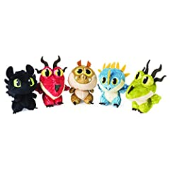 Idea Regalo - Dragons- How to Train Your Dragon Uova di Drago in Peluche, Modelli Assortiti, Multicolore, 6045084